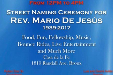 Rev. Mario De Jesus Street Naming Celebration
