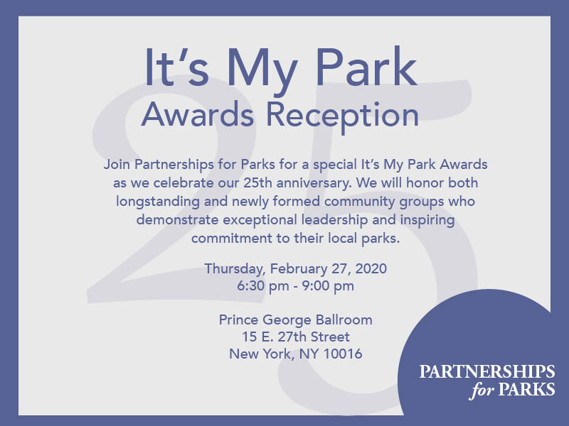 It's My Park Awards Reception To Honor Bronx Volunteers
