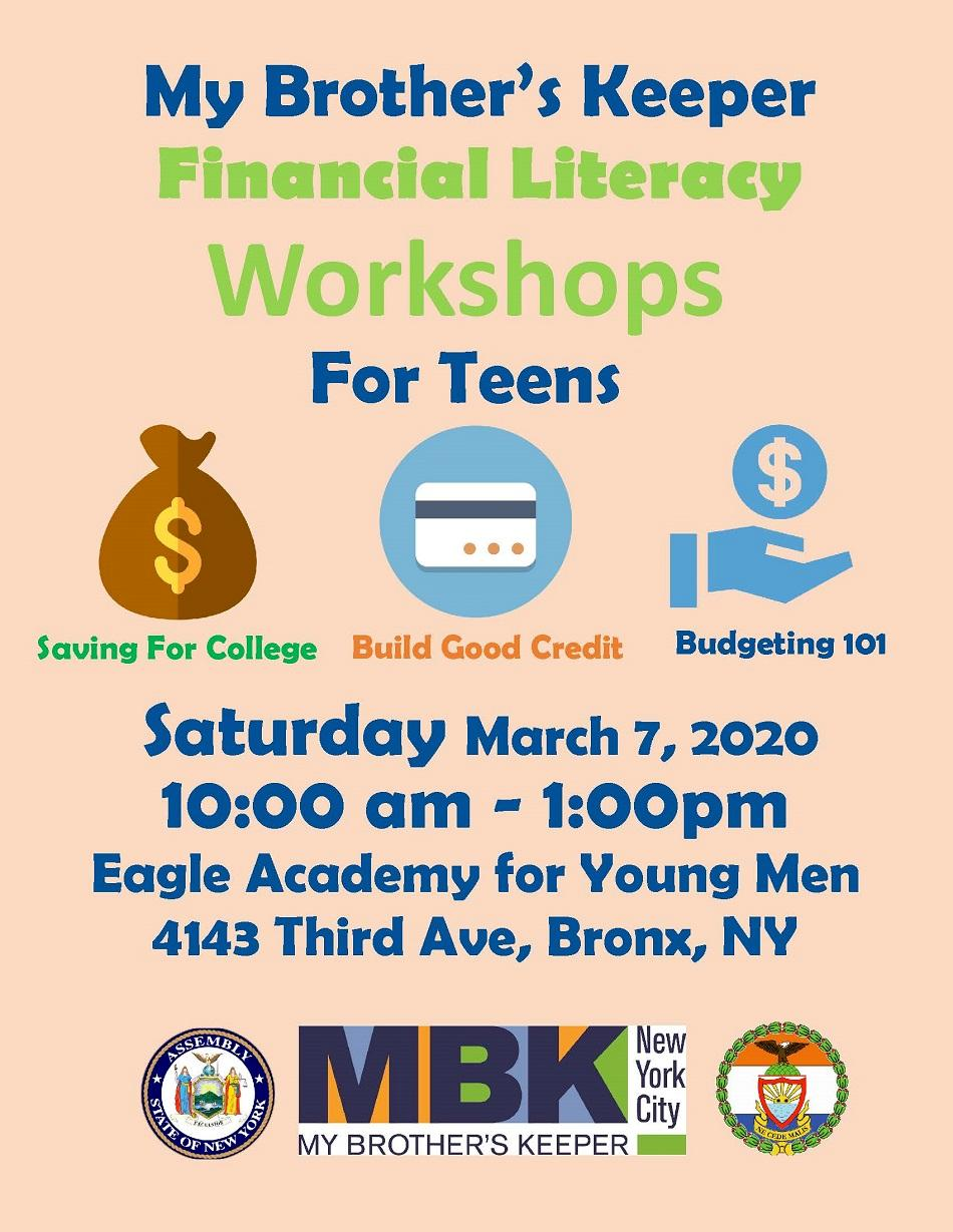 My Brother's Keeper Financial Literacy Workshop For Kids