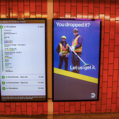 MTA Deploys 9,000 New Digital Screens Systemwide