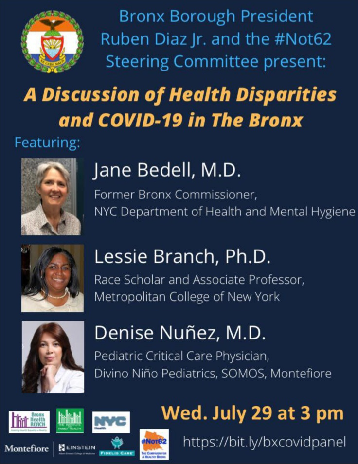 Health Disparities & CoViD-19 In The Bronx