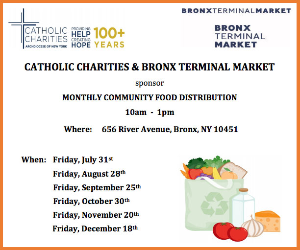 Monthly Community Food  Distribution