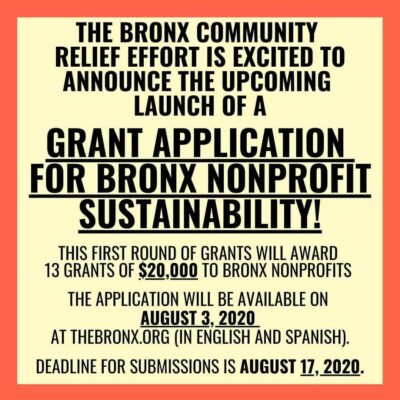 Grant Application For Bronx Nonprofit Sustainability