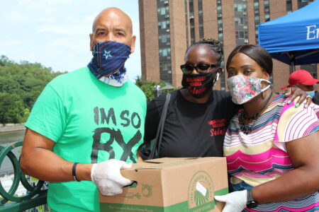 Bronx Officials Distribute Food & PPE At River Park Towers