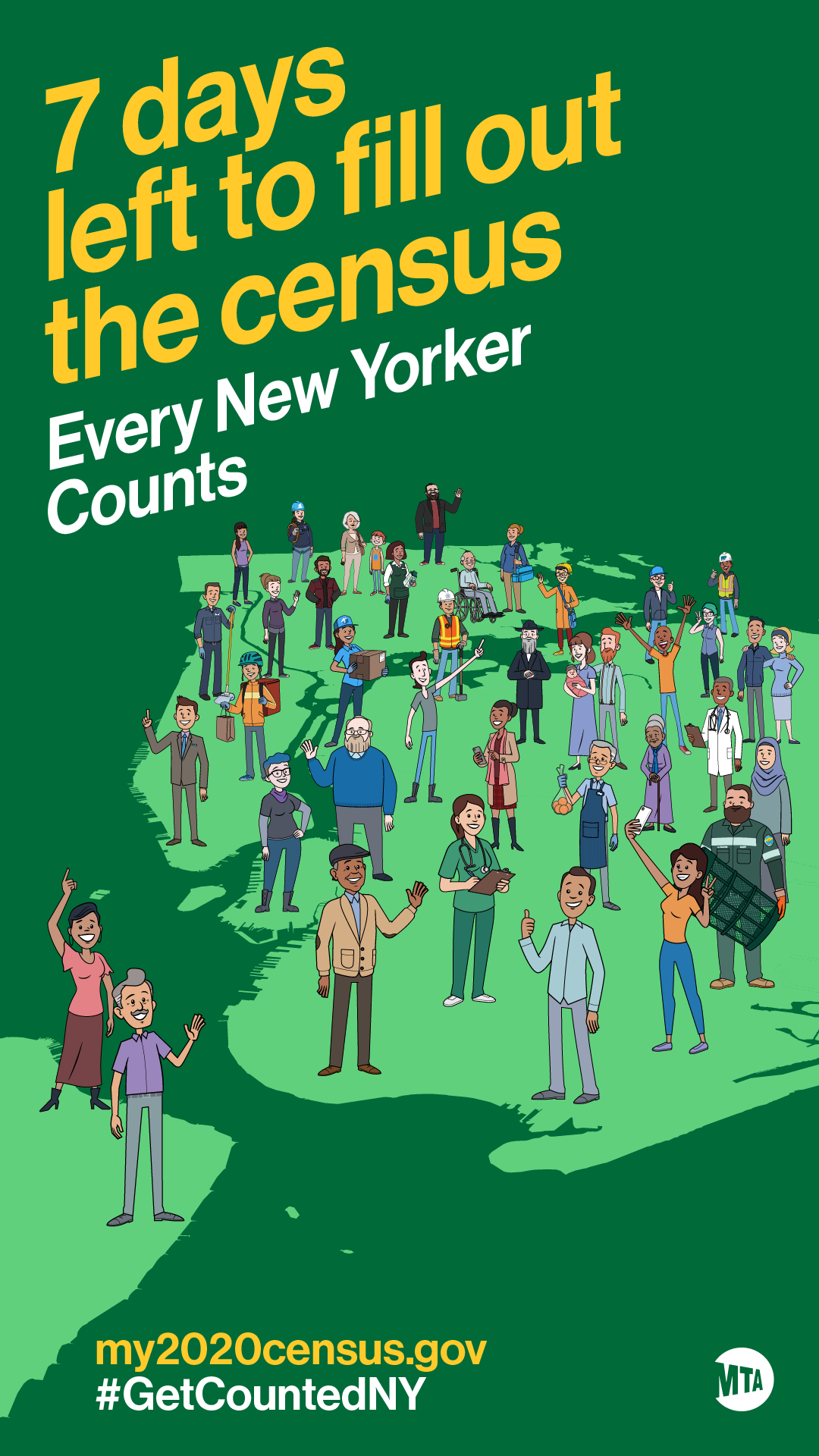MTA Launches New Countdown Campaign To Fill Out 2020 Census