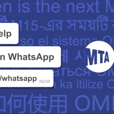 MTA New York City Transit Now Using WhatsApp To Communicate With Customers