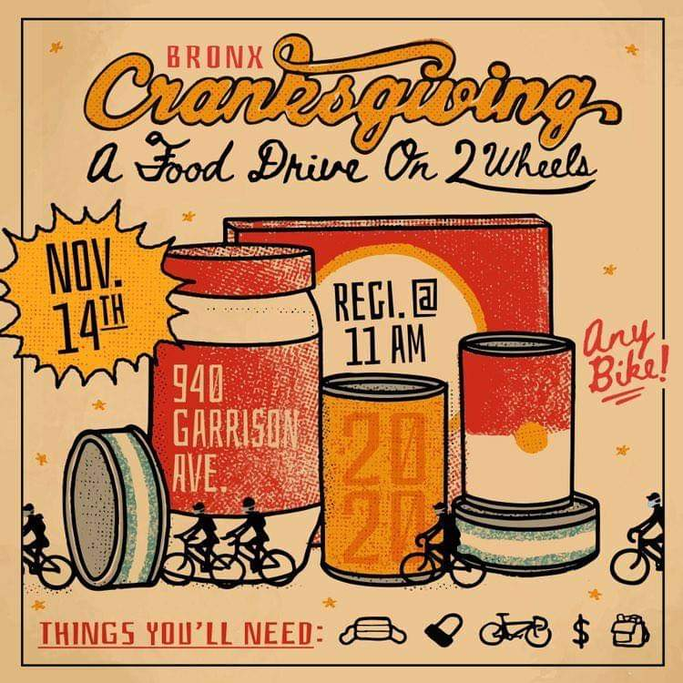 Bronx Cranksgiving 2020: A Food Drive On 2 Wheels