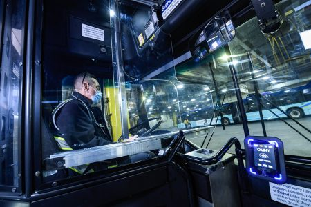 Installation Of Protective Barriers On 4,800 Local Buses Completed