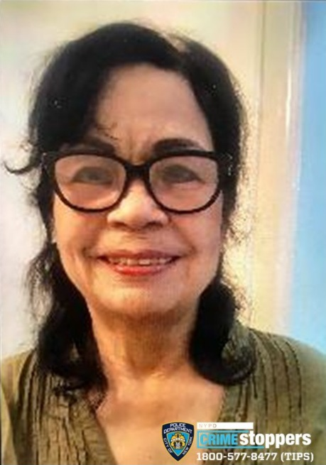 Lucy Tolentino, 76, Missing