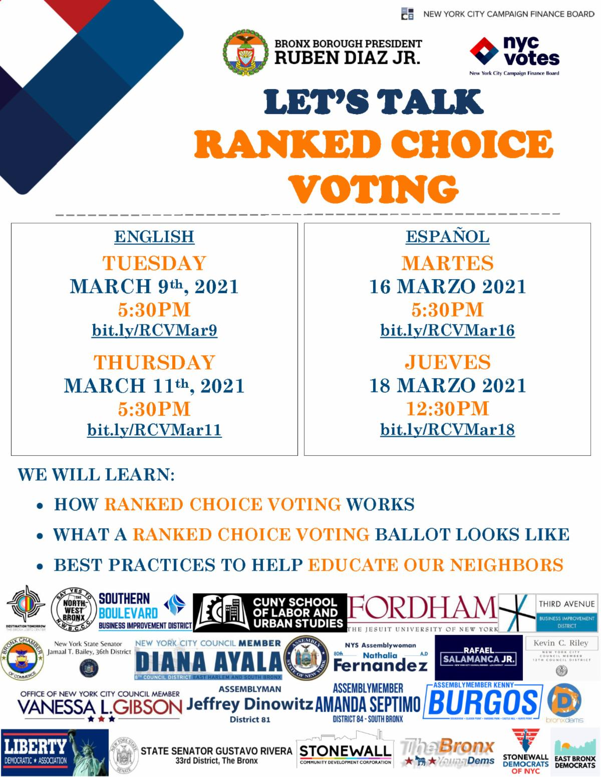 Let's Talk Ranked Choice Voting