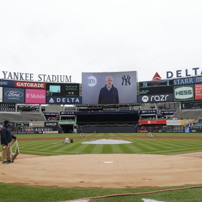 MTA Chairman Foye Appears On Yankee Stadium Jumbotron