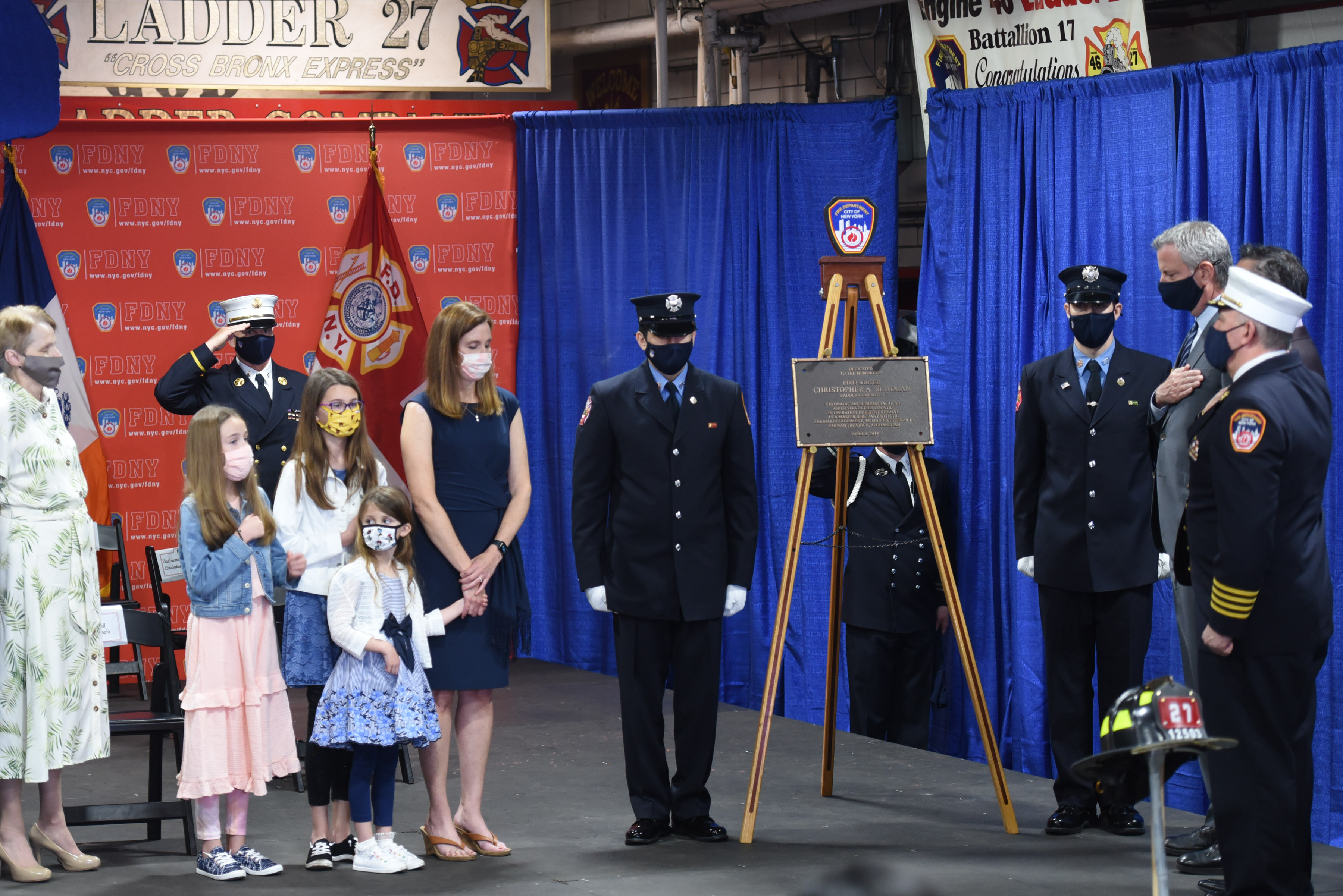 Plaque Dedication Ceremony For FDNY Firefighter Christopher Slutman