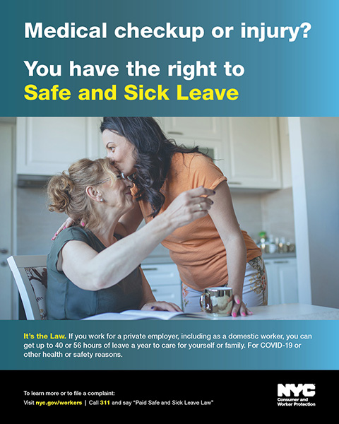 Public Awareness Campaign Reminds New Yorkers Of Their Right To Paid Safe And Sick Leave