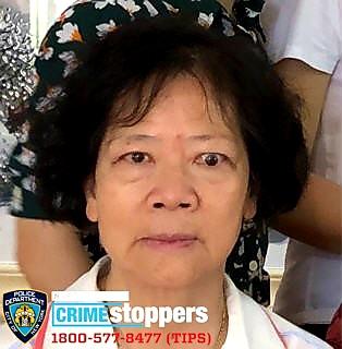 Ming Zhen Jiang Tang, 74, Missing